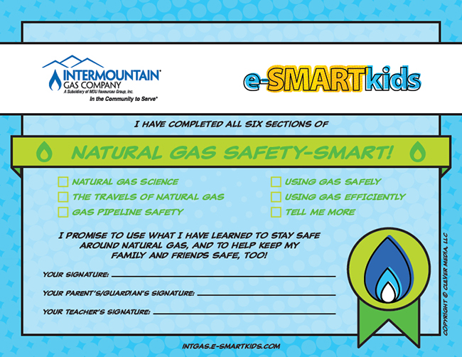 Natural Gas Safety-SMART certificate